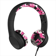 LilGadgets Connect+ Style Children's Wired Headphones – Pink Camo | Accessories