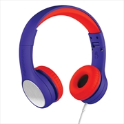 LilGadgets Connect+ Style Children's Wired Headphones – Blue + Red | Accessories