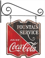 Plaque Off The Wall Coca Cola Double-Sided Hanging Sign | Merchandise