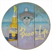 "Corona Beach Life Wooden Sign/ Bottle Opener 8"" | Merchandise"