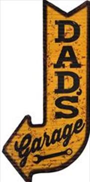 Dad's Garage Arrow Metal Sign | Merchandise