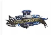 Powered by Ford Embossed Metal Sign - Dark Blue | Merchandise