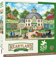 Masterpieces Puzzle Heartland Collection The Quilt Barn Puzzle 550 pieces | Merchandise