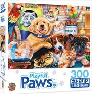 Masterpieces Puzzle Playful Paws Home Wanted Ez Grip Puzzle 300 pieces | Merchandise
