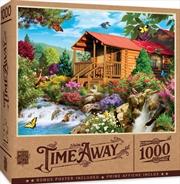 Masterpieces Puzzle Time Away Cascading Cabin Puzzle 1,000 pieces | Merchandise