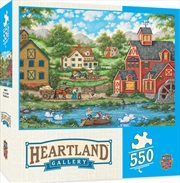 Masterpieces Puzzle Heartland Collection Swan Pond Puzzle 550 pieces | Merchandise