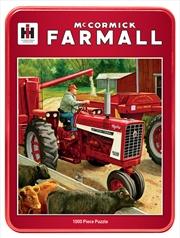 Masterpieces Puzzle McCormick Farmall Feeding Time Tin Box Puzzle 1,000 pieces   Merchandise