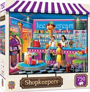 Masterpieces Puzzle Shopkeepers Anna's Ice Cream Parlor Puzzle 750 pieces | Merchandise