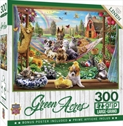 Masterpieces Puzzle Green Acres Afternoon Siesta Ez Grip Puzzle 300 pieces | Merchandise