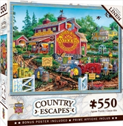 Masterpieces Puzzle Country Escapes Antique Barn Puzzle 550 pieces | Merchandise
