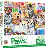 Masterpieces Puzzle Playful Paws Sweet Things Ez Grip Puzzle 300 pieces | Merchandise