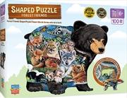 Masterpieces Puzzle Shaped Forest Friends Puzzle 100 pieces | Merchandise