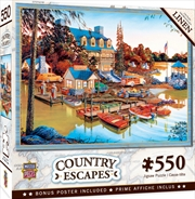 Masterpieces Puzzle Country Escapes Peaceful Easy Evening Puzzle 550 pieces | Merchandise