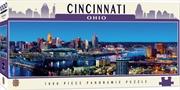 Masterpieces Puzzle City Panoramic Cincinnati Ohio Puzzle 1,000 pieces | Merchandise