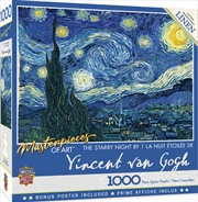Masterpieces Puzzle Masterpieces of Art Starry Night Puzzle 1,000 pieces | Merchandise