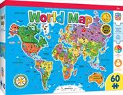 Masterpieces Puzzle Educational World Map Puzzle 60 pieces | Merchandise