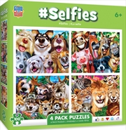 Masterpieces Puzzle 4 Pack Selfies Puzzle 100 pieces | Merchandise