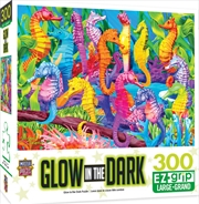 Masterpieces Puzzle Glow in the Dark Singing Seahorses Ez Grip Puzzle 300 pieces | Merchandise