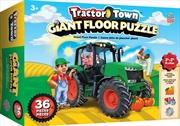 Masterpieces Puzzle Floor Tractor Town Puzzle 36 pieces | Merchandise