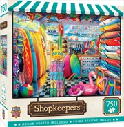 Masterpieces Puzzle Shopkeepers Beach Side Grear Puzzle 750 pieces | Merchandise