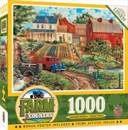 Masterpieces Puzzle Farm and Country Grandma's Garden Puzzle 1,000 pieces | Merchandise