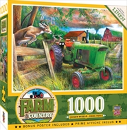 Masterpieces Puzzle Farm and Country Deer Crossing Puzzle 1,000 pieces | Merchandise