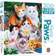 Masterpieces Puzzle Playful Paws Purrfectly Adorable Ez Grip Puzzle 300 pieces | Merchandise