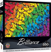Masterpieces Puzzle Brilliance Collection Fluttering Rainbow Puzzle 550 pieces | Merchandise