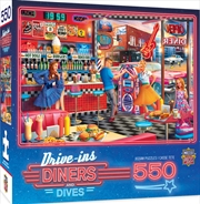 Masterpieces Puzzle Drive Ins, Diners & Dives Good Times Diner Puzzle 550 pieces | Merchandise