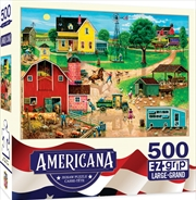 Masterpieces Puzzle Americana by Bob Pettis After the Chores Ez Grip Puzzle 500 pieces | Merchandise
