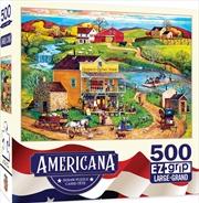 Masterpieces Puzzle Americana by Bob Pettis Cooper's Corner Ez Grip Puzzle 500 pieces | Merchandise