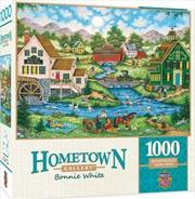 Masterpieces Puzzle Hometown Gallery Millside Picnic Puzzle 1,000 pieces   Merchandise