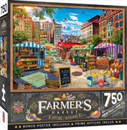Masterpieces Puzzle Farmers Market Buy Local Honey Puzzle 750 pieces | Merchandise