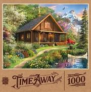 Masterpieces Puzzle Time Away Mountain Retreat Puzzle 1,000 pieces | Merchandise