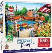 Masterpieces Puzzle Travel Diary Amsterdam Puzzle 550 pieces | Merchandise