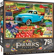 Masterpieces Puzzle Farmers Market Locally Grown Puzzle 750 pieces | Merchandise