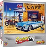 Masterpieces Puzzle Cruisin Route 66 Cafe Puzzle 1,000 pieces | Merchandise