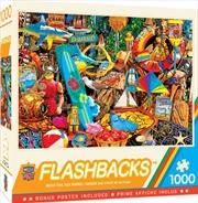 Masterpieces Puzzle Flashbacks Beach Time Flea Market Puzzle 1,000 pieces | Merchandise