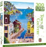 Masterpieces Puzzle Town & Country A Walk on the Pier Ez Grip Puzzle 300 pieces | Merchandise