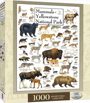 Masterpieces Puzzle Poster Art Mammals of Yellowstone National Park Puzzle 1,000 pieces   Merchandise