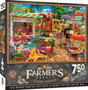 Masterpieces Puzzle Farmers Market Sale on the Square Puzzle 750 pieces | Merchandise