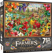 Masterpieces Puzzle Farmers Market A Plentiful Season Puzzle 750 pieces | Merchandise