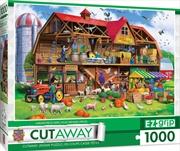 Masterpieces Puzzle Cutaway Family Barn Ez Grip Puzzle 1,000 pieces | Merchandise