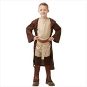 Star Wars Boys' Classic Jedi Robe Costume - Brown Multi  Size S | Apparel