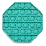 Teal Octagon Push And Pop | Toy