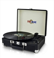 Suitcase Style Turntable Black - Retro Musique   Hardware Electrical