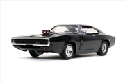 Fast and Furious 9 - 1970 Dodge Charger Black 1:24 Scale Hollywood Ride | Merchandise