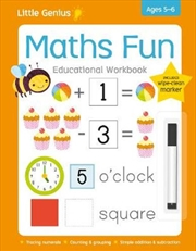 Little Genius Write & Wipe Workbook - Maths Fun | Paperback Book