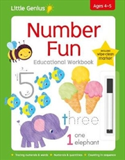 Little Genius Write & Wipe Workbook - Number Fun | Paperback Book