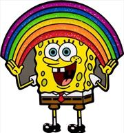 SpongeBob SquarePants - SpongeBob Rainbow Glitter Enamel Pin | Merchandise